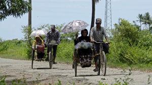 Rohingya-minoriteten flyr från västra Burma.
