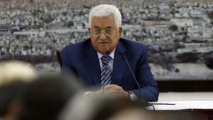 Palestiniernas president Mahmoud Abbas