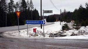 Avtaget till Mangård i Raseborg.