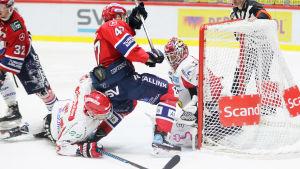Spel framför Jonathan Iilahtis mål, HIFK-Sport