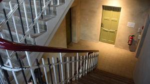 Trapphuset i baracken M1 i Lockstedter Lager