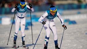 Kerttu Niskanen och Krista Pärmäkoski skidade bra på 30 km.
