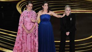 Maya Rudolph, Tina Fey och Amy Poehler på Oscarsgalan 2019.