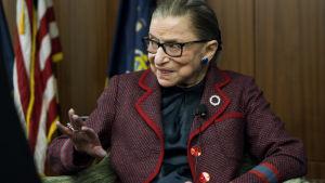 Ruth Bader Ginsberg under ett framträdande i New York.