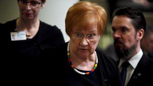 President Tarja Halonen deltog i riksmötets öppning.