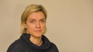 Ordförande för Akilles skidsektion - Katja Laitinen.