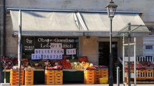 En grönsakshandel utan kunder i Tyskland