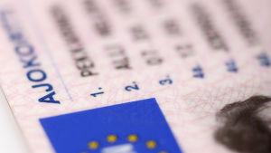 Bild på körkort.