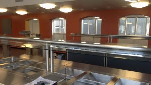 Den nyrenoverade matsalen.