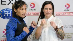 Boxarna Anahi Esther Sanchez och Eva Wahlstöm möts på lördag i Helsingfors.