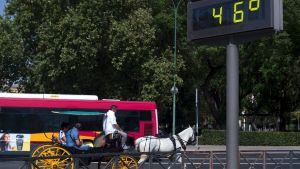 46 grader i Sevilla.