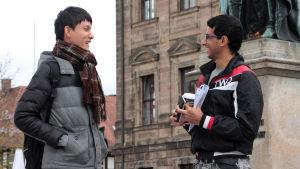 Kuo-Chun Chung och El Mehdi Lemnaouar trivs bra i Erlangen.