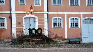 Trappan till Gamla rådhuset i Borgå.