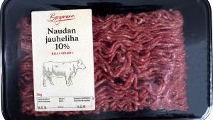 Malet nötkött i förpackning
