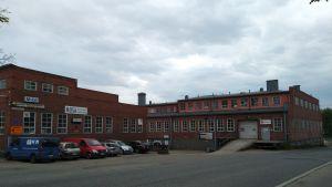 Gammal fabriksbyggnad i Mosabacka.