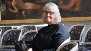Mona Schalin, arkitekten som stått för renoveringen av Ormhuset och som nu får ta emot Finlandiapriset i arkitektur.