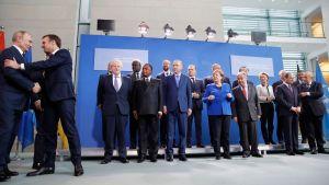 Världsledare samlades till möte i Berlin för att diskutera Libyen 19.1.202