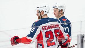 Mihail Grigorenko och Kirill Kaprizov.