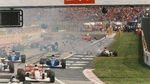 JJ Lehto blev påkörd i starten av F1-loppet i Imola 1994.