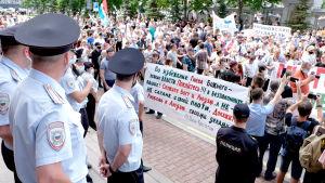 Demonstration i Chabarovsk.