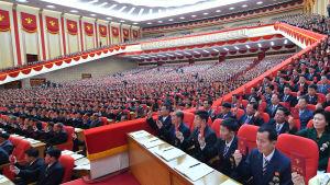 7 000 delegater och observatörer deltog i det nordkoreanska Arbetarpartiets åttonde partikongress.