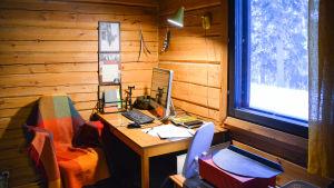 Ett arbetsrum.
