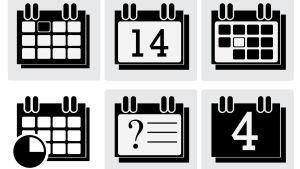 Kalender i svartvitt