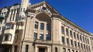 Lettlands offentliga radios kontor i Gamla stan i Riga.