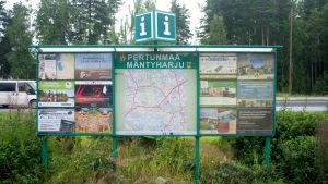 Vägkarta vid infarten till Mäntyharju.