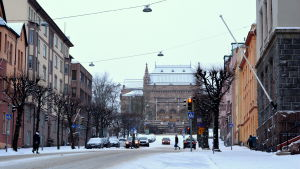 åbo konstmuseum i vinterlandskap
