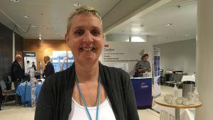 lisette schoonloven under europeiska trycksårsrådets möte vid ÅUCS.