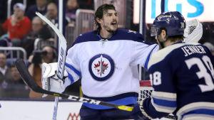 Winnipeg Jets målvakt Connor Hellebuyck räddade 40 skott.