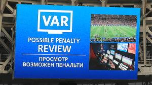 VAR användes vid VM i Ryssland 2018.