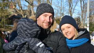 Jonas Möller och Ada Selänniemi.