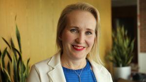 Minna Helle är arbetsmarknadsdirektör på Teknologiindustrin