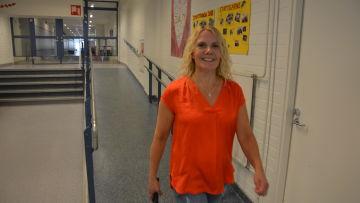 Sarah Qvist är skolcoach i Korsholms högstadium.
