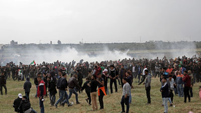 Israeliska trupper star utanfor gazaremsan