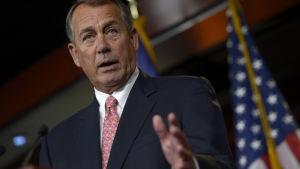 John Boehner, USA:s representanthus talman.