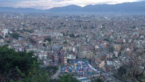 Kathmandu telttaleiri kaupungissa näkymä Swayambhusta