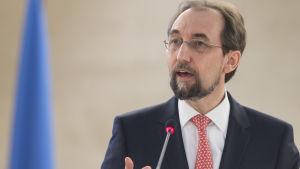 fn:s människorättschef zeid ra'ad al hussein