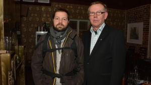 Oskari Sundström och Harry Yltävä står bredvid varandra.