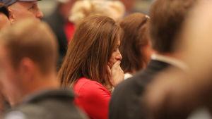 Besviken anhängare till republikanernas kondidat i Alabams senatorsval Doug Jones.