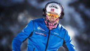 Petter Northug på läger, 2017.
