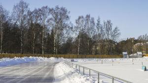 Naturisplan i Djurgården i Helsingfors.