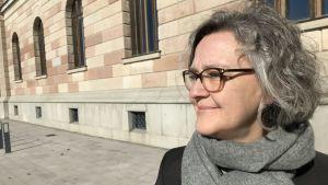 Porträttbild på Birgitta Castenfors, tf. chef på Nationalmuseum.