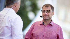 Juha Sipilä på SuomiAreena på måndag 16 juli 2018.