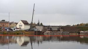 Kraftverksdammen i Nykarleby