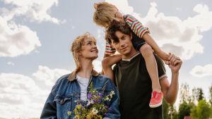 Kohtaus tv-sarjasta De dagar som blommorna blommar