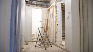 Renovering i lägenhet.