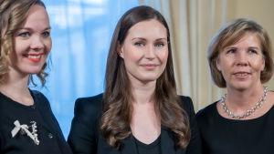 Pääministeri Sanna Marin, Valtioneuvoston linna, 19.12.2019.